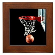 Basketball Point Framed Tile