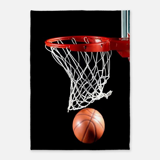 Basketball Point 5'x7'Area Rug