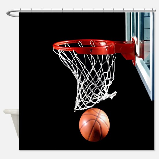 Basketball Point Shower Curtain