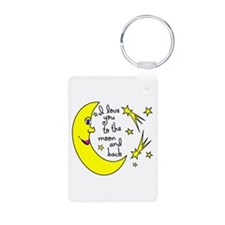 I LOVE YOU TO THE MOON AND Keychains
