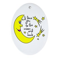 I LOVE YOU TO THE MOON AND BACK Ornament (Oval)