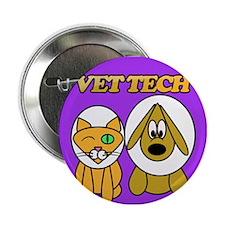 """Unique Veterinary technician 2.25"""" Button (10 pack)"""