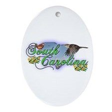 South Carolina Oval Ornament
