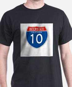 Interstate 10 - CA Ash Grey T-Shirt