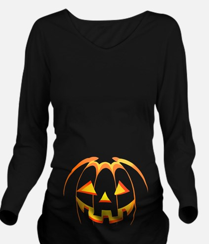 Jack-o'-lantern Hall Long Sleeve Maternity T-Shirt
