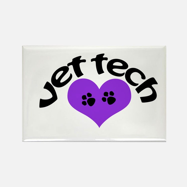 purple paw heart design Magnets