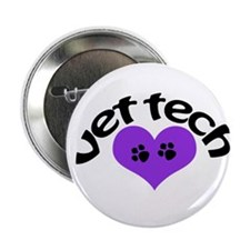 "purple paw heart design 2.25"" Button (10 pack)"