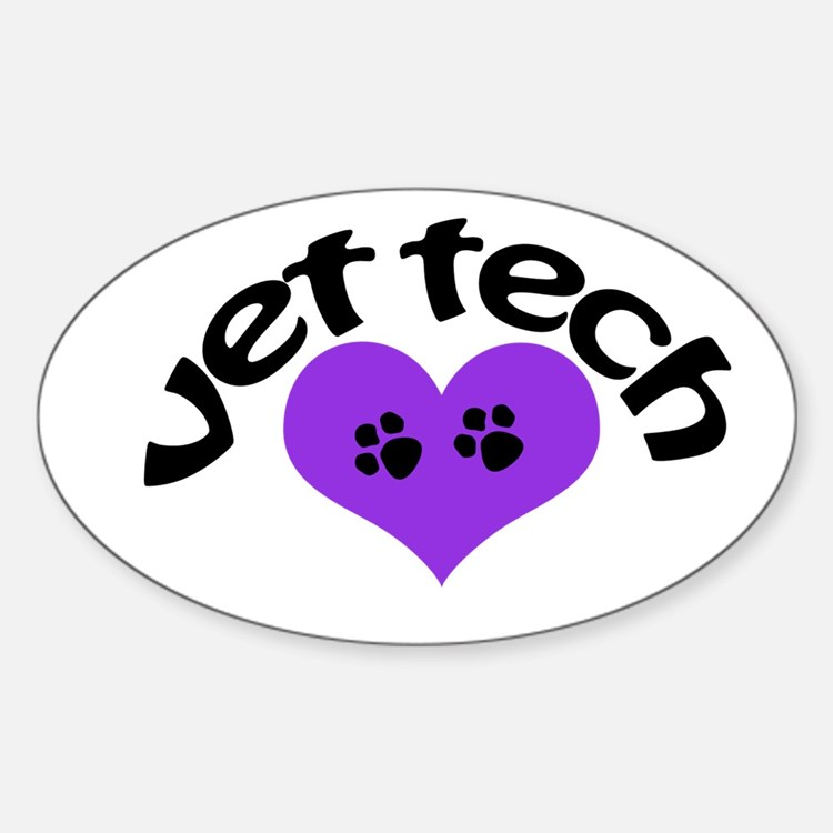 purple paw heart design Decal