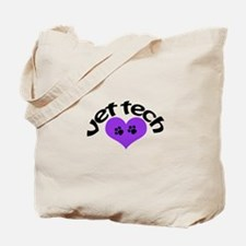 purple paw heart design Tote Bag
