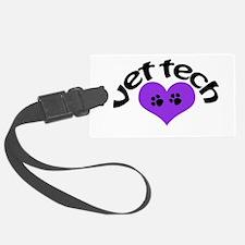 purple paw heart design Luggage Tag