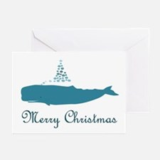 Whale Merry Christmas Greeting Cards
