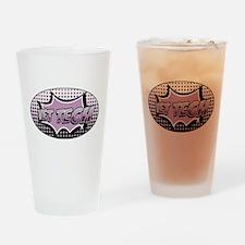 retro cartoon vet tech Drinking Glass