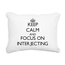 Unique Interjections Rectangular Canvas Pillow