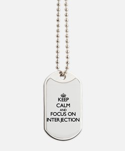 Cute Interjection Dog Tags