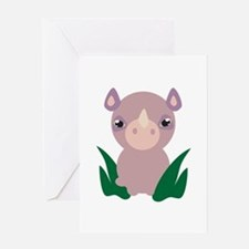 Little Rhino Greeting Cards