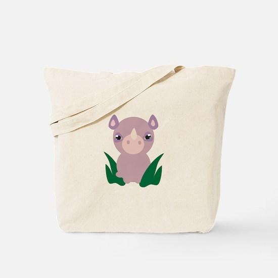 Little Rhino Tote Bag