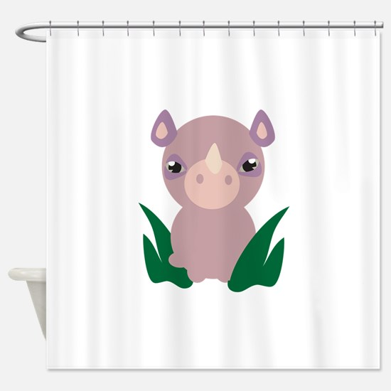 Little Rhino Shower Curtain