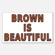 Brown is beautiful - Sticker (Rectangle)