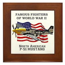 P-51 Mustang Framed Tile