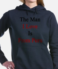 The Man I Love Is From P Women's Hooded Sweatshirt