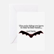Fear Bats Greeting Cards