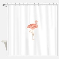 Funny Flamingo Shower Curtain
