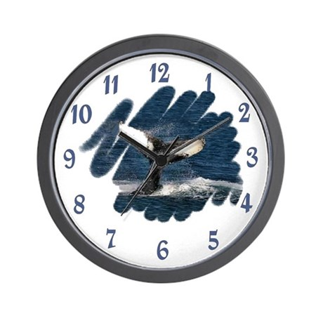 HUMPBACK WHALE TAIL Wall Clock