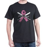 Breast cancer baseball Mens Classic Dark T-Shirts