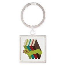 Book Lover Bookworm Keychains
