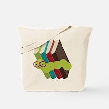 Book Lover Bookworm Tote Bag