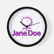 Jane Doe Wall Clock