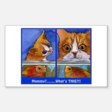 """What's This!""CAT & KITTEN Rectangle Decal"