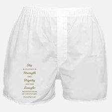 PROVERBS 31:25 Boxer Shorts