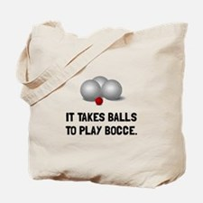 Balls To Play Bocce Tote Bag