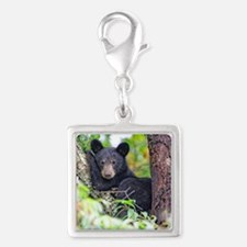 Bear Cub relaxing in Tree Charms