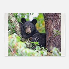 Bear Cub relaxing in Tree 5'x7'Area Rug