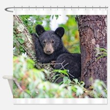 Bear Cub relaxing in Tree Shower Curtain