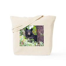 Bear Cub relaxing in Tree Tote Bag