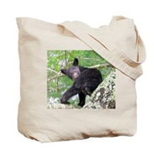 Bear Cub relaxing in Tree Tote Bag