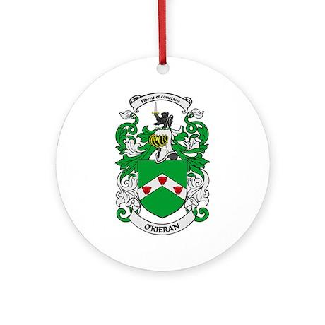 O'KIERAN Coat of Arms Ornament (Round)