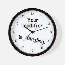 Dangling Modifier Wall Clock
