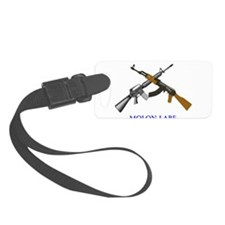 Crossed AR and AK Molon Labe Luggage Tag