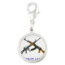 Crossed AR and AK Molon Labe Charms