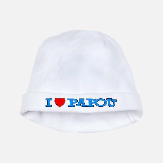 I Love Papou Baby Hat