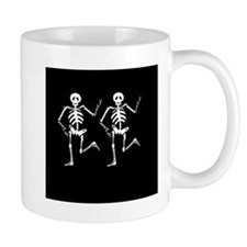 Skeleton Bones Halloween Mugs