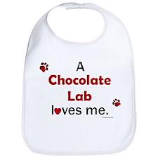 Chocolate Lab Loves Me Bib