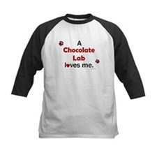 Chocolate Lab Loves Me Tee