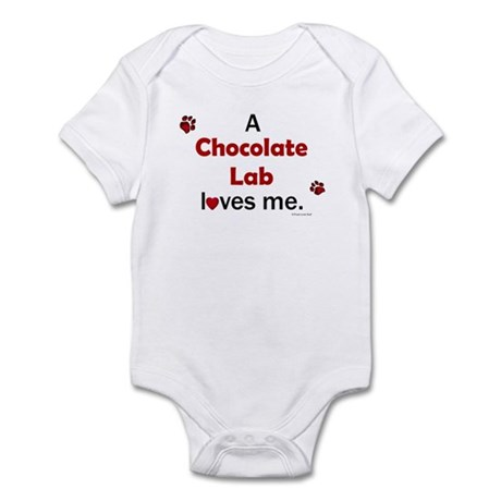 Chocolate Lab Loves Me Infant Bodysuit