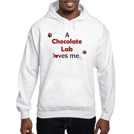 Chocolate Lab Loves Me Hooded Sweatshirt