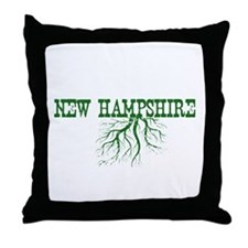 New Hampshire Roots Throw Pillow